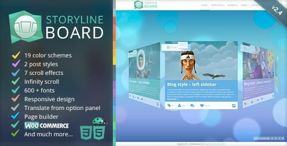 Storyline Board v2.7 - WordPress Theme