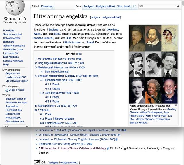 Estoy en la Wikipedia sueca
