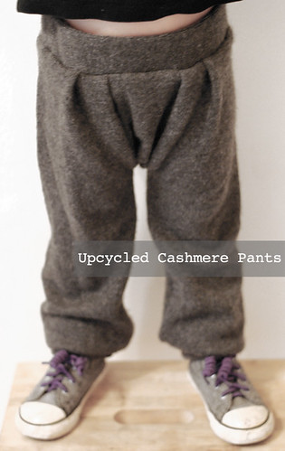 upcycled casmere pants
