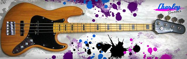 Photo:【Charley Basses】 CJB-1 Custom / Pro Sound Quality Bass By Charley Guitars