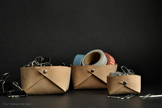 Folded leather basket :: a minimalistic DIY