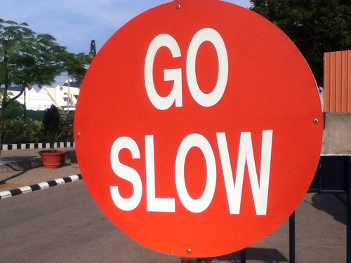 Go Slow in Hyderabad, India