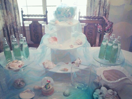 mermaid table setup by Little Sweeties Cupcakes