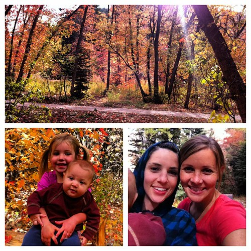Gorgeous picnic up the canyon with my little sis. #cantgetenoughofthefallcolors