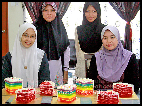 Baking Class: Italian Rainbow Cake + Red Velvet Cake ~ 18 May 2012
