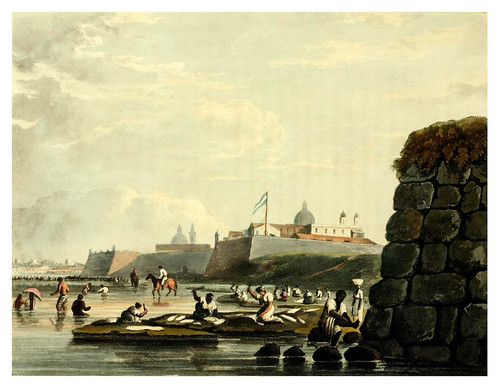 003-El fuerte de Buenos Aires-Picturesque illustrations of Buenos Ayres and Monte Video..-1820- Emeric Essex Vidal
