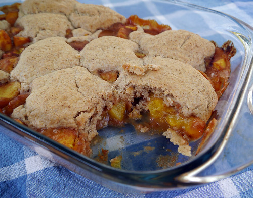 Peachy Keen Cobbler from American Vegan Kitchen (0018)