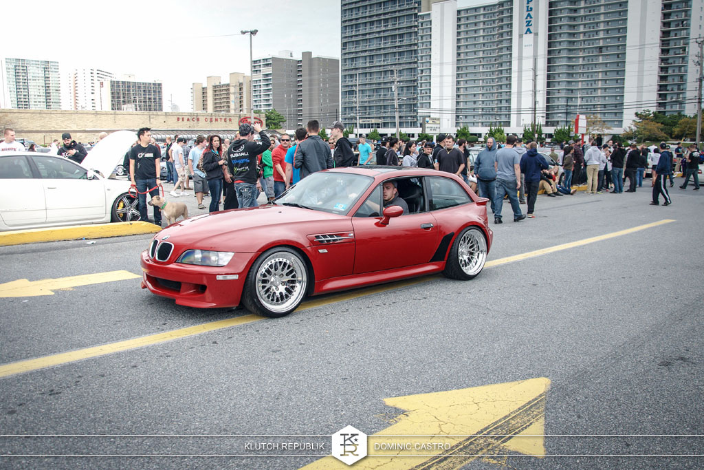 bmw red z3 ccw classics at h2oI 2012 3pc wheels static airride low slammed coilovers stance stanced hellaflush poke tuck negative postive camber fitment fitted tire stretch laid out hard parked seen on klutch republik
