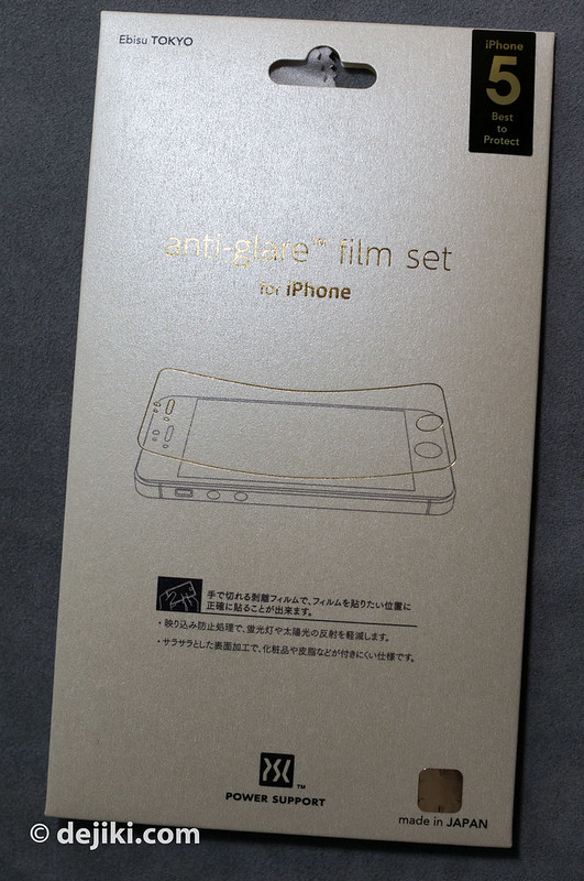 Power Support anti-glare film set for iPhone 5