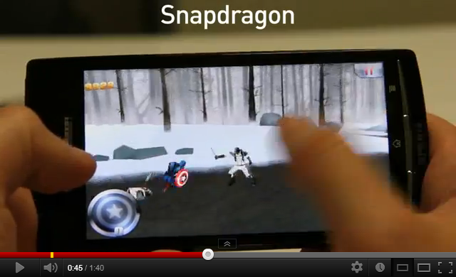 Gaming on Snapdragon smartphone
