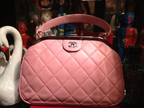 pink chanel vintage bag