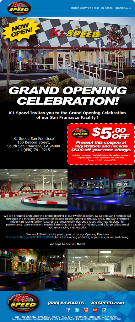 8090651091 7bd86e1a88 b GRAND OPENING CELEBRATION at K1 Speed San Francisco!