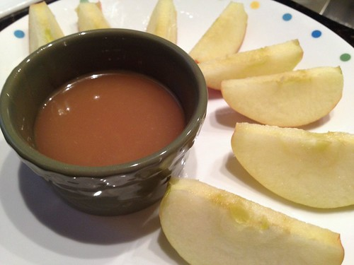 salted caramel sauce with apples