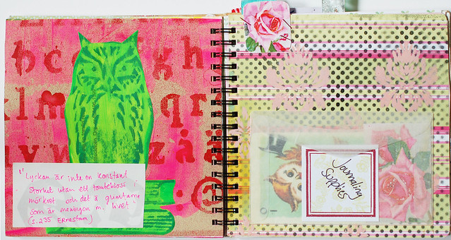 Smart Journal #1 Green Owl
