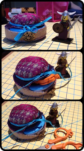 Pin cushion/sewing kit