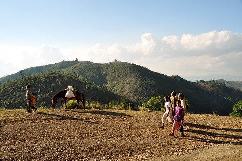 mountains village donkey easttimor maubisse turiscai