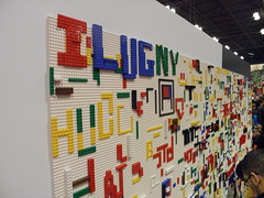 LEGO Booth graffiti wall