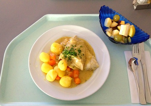 Barschfilet in Weißweinsauce / Perch filet in white wine sauce
