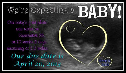 pregnancy announcement copy