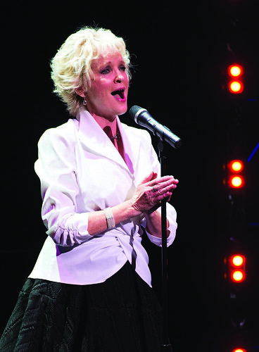 Christine Ebersole performs during the Harman Center for the Arts Annual Gala. Photo by Kevin Allen.