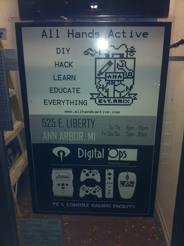 All Hands Active makerspace's sign