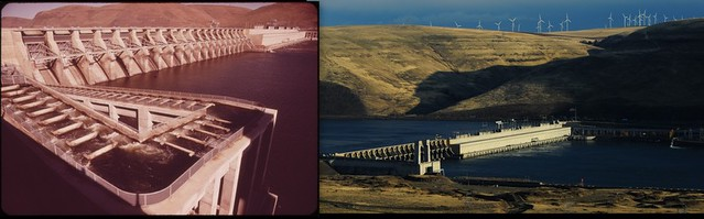 John Day Dam, Columbia River Then and Now.