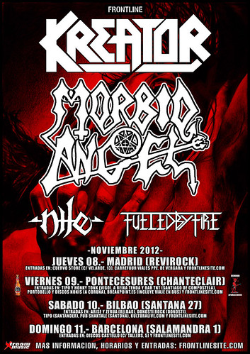 Kreator, Nile, Morbid Angel Spanish Tour 2012