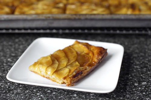 apple mosaic tart with salted caramel