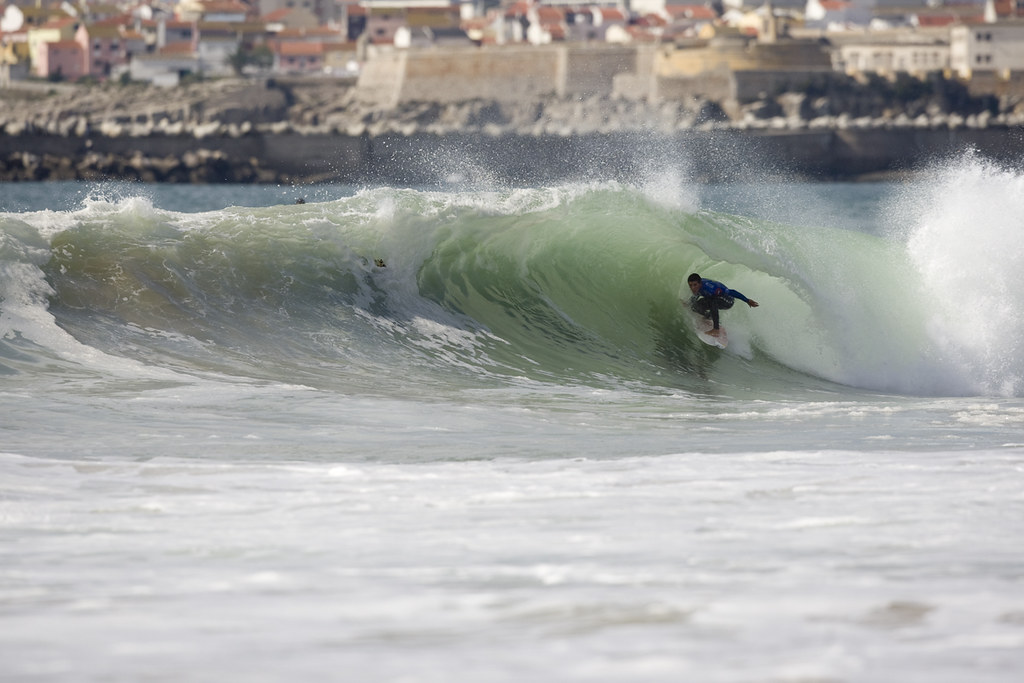 2011 Rip Curl Pro Portugal winner Adriano De Souza made it back to the semi finals this year but was stopped short of the final by a rampaging Julian Wilson.
