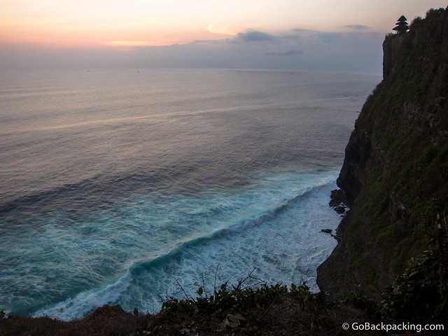 Sunset at Uluwatu, on the southern coast of Bali