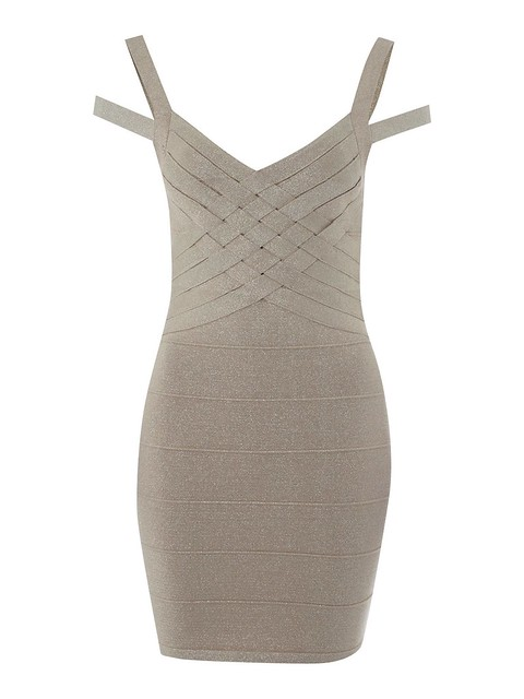 Mtallic Bodycon Dress