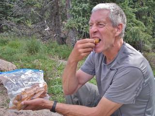 Dave Noshing on Backcountry Grub