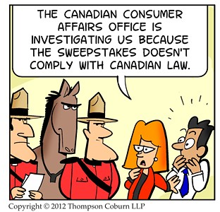 Canadian mounties - Sweepstakes comic