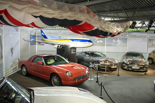 Vehicles displayed in the Bond in Motion exhibit. Credit: Ken Chmielewski, all rights reserved