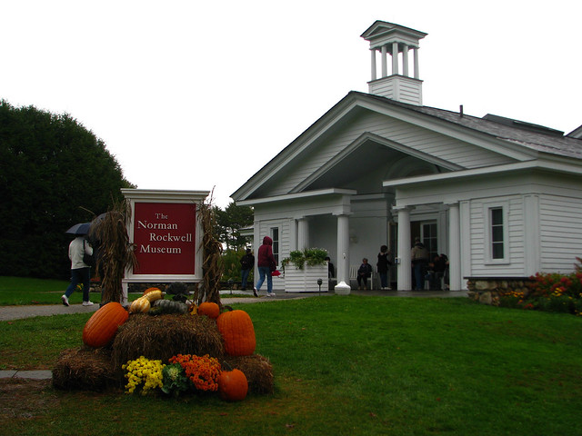People visiting the Norman Rockwell Museum.