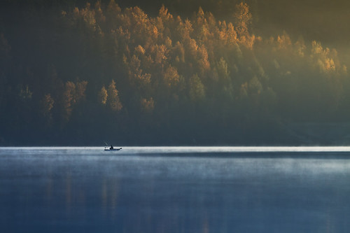 morning autumn mist lake water sunrise landscape fishing poland waterscape lowersilesia canon50d cerastes1