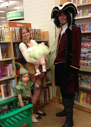 Family at Halloween Storytime
