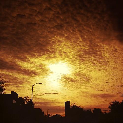 オレンジの雲・その2