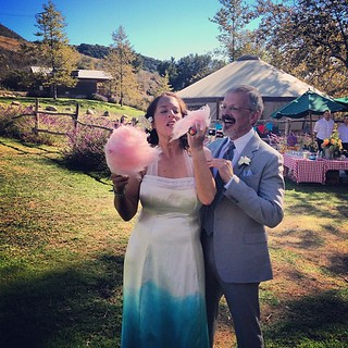 It's the kind of wedding where you eat the bouquet! #candy