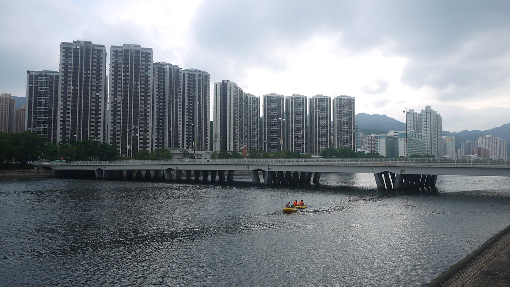 Cycling Along Shing Mun River