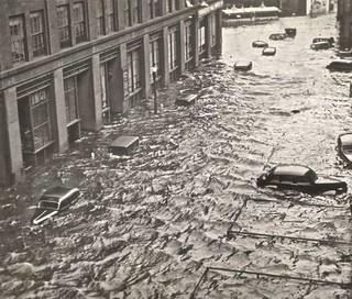 La inundación tras el Gran Huracán de Nueva Inglaterra (Providence, 1938)