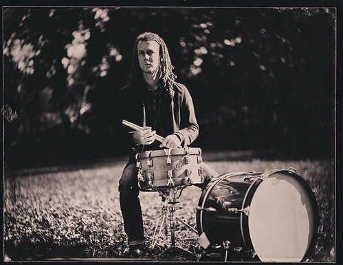 Nashville tintype photography portrait drummer music