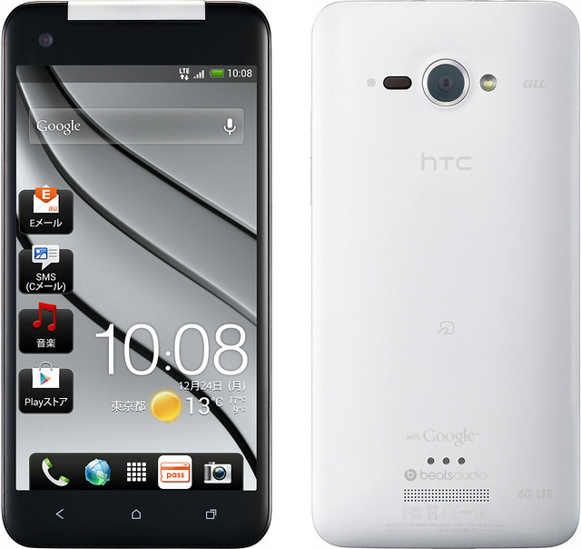 HTC J butterfly HTL21 実物大の製品画像