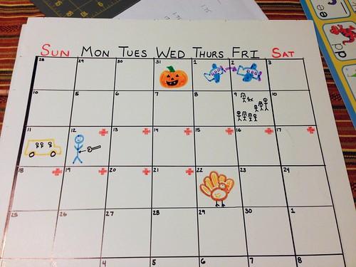 Calendar for Ian