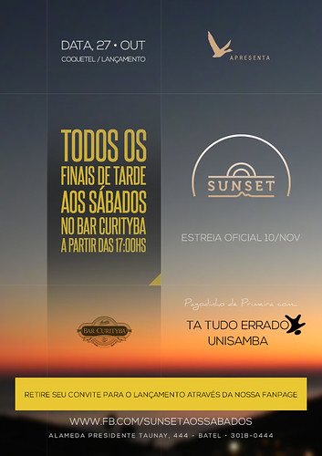 Flyer - Sunset by chambe.com.br