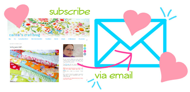 Subscribe to Carina's Craftblog by email