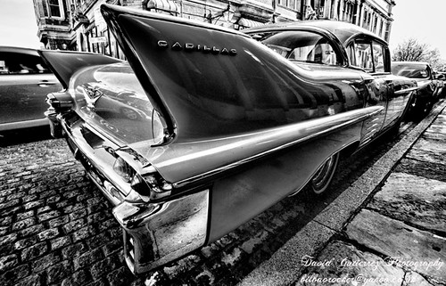 London Cadillac in Black and White