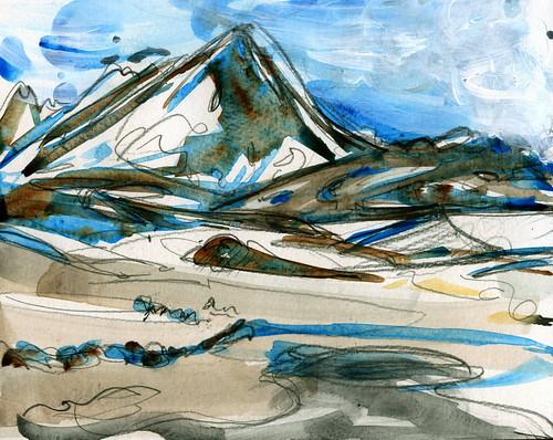 Iceland sketches: near Lake Myvatn