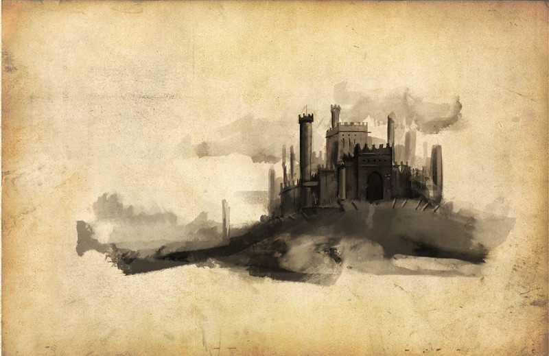 castle early stage concept art