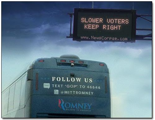 Romney - Slower Voters